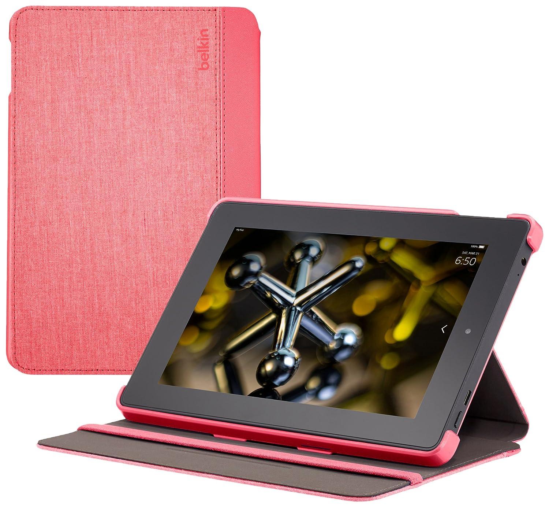 ファッション 【Fire HD 7 カバー】 HD Belkin シャンブレイケース ピンク ピンク【Fire ピンク B00LNTMUBO, フカエチョウ:e7bc434e --- a0267596.xsph.ru
