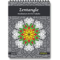Zentangle Meditation Art Coloring Book for Adults (Level 1)