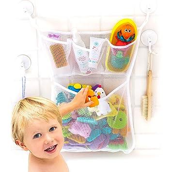 Bath Toy Organizer  The Original Tub Cubby   Large 14x20u201d Quick Dry Bathtub  Mesh