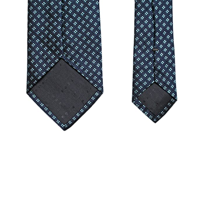 HUGO BOSS LUJO Patrón Rombos corbata, azul, lila hecho en Italia ...