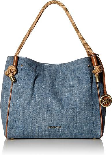 Michael Kors Isla Grab Large Bag (Washed Denim): Amazon.ca