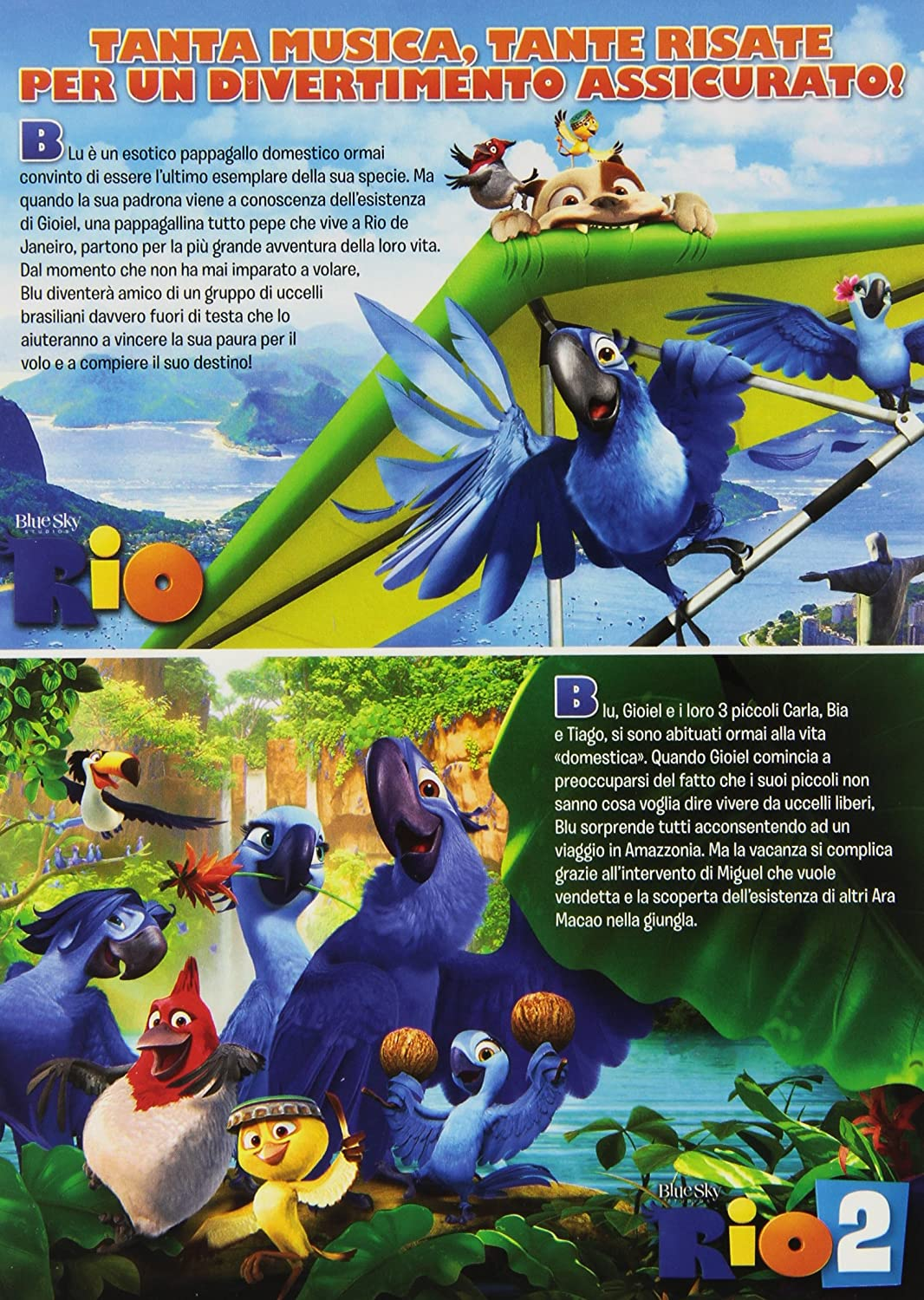 Amazon.com: Rio + Rio 2 - Missione Amazzonia (+peluche) [2 DVDs] [IT Import]Rio + Rio 2 - Missione Amazzonia (+peluche) [2 DVDs] [IT Import]: Movies & TV