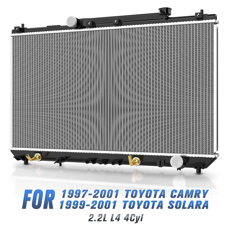 Radiator for 1997-2001 Toyota Camry 2.2l L4 1999-2001 Toyota Solara 2.2L L4 4Cyl DWRD1017