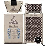 ZenGuru - Sale - Effective Remedy for Neck & Shoulders Pain and Stress Relief - with Magnet Therapy - Lifetime Money Back (Mat & Pillow -Natural Linen)