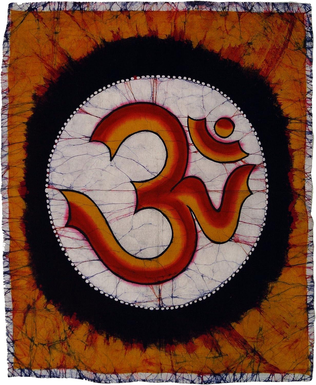 Appeso al Muro Guru-Shop Quadro Batik Dipinto a Mano Buddha 90x60 cm Multicolore Borse da Muro Rivestimenti Murali Cotone Murale