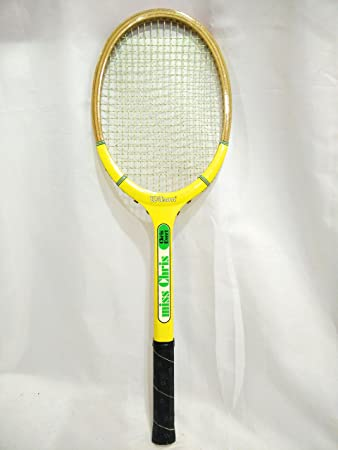 "1970s Vintage Chris Evert Tennis Racquet -- Wilson ""Miss Chris"" Model -"