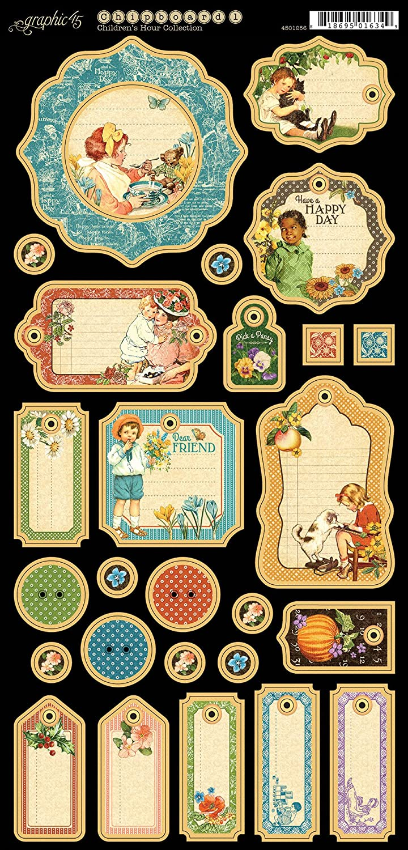 Children'S Hour Chipboard Die-Cuts 6-inch x 12-inch Sheet Decorative Graphic 45 4501255