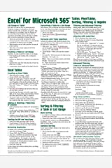 Microsoft Excel for Microsoft 365 (Office 365) Tables, PivotTables, Sorting, Filtering & Inquire Quick Reference Guide - Windows Version (Cheat Sheet ... Tips & Shortcuts - Laminated Card) Pamphlet
