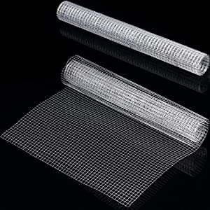 2 Sheets 1/4 Inch Welded Cage Wire Galvanized Hardware Cloth Metal Mesh Chicken Netting Rabbit Fence Wire Window (13.7 x 39.3 Inches) for Gutter Guard Craft Projects and Garden Use