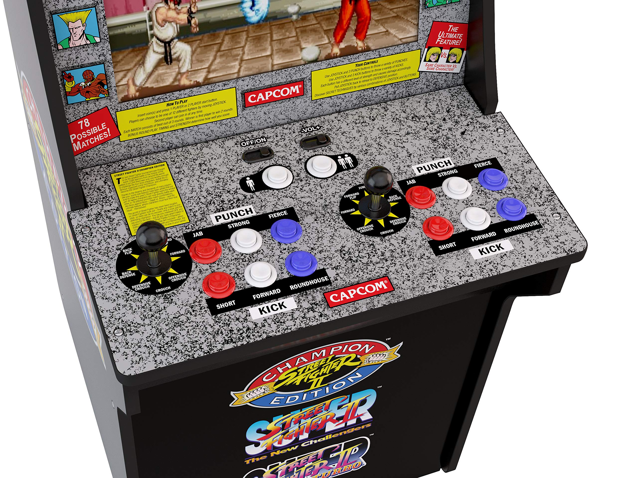 Arcade1Up Street Fighter - Classic 3-in-1 Home Arcade, 4Ft - Not Machine Specific by Arcade1Up (Image #3)