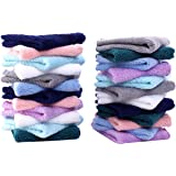 24 Pack Baby Washcloths - Ultra Soft Absorbent Wash Cloths for Baby and Newborn, Gentle on Sensitive Skin for Face and Body,