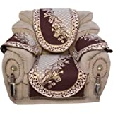 5 Seater Cotton Sofa Cover With 6 Arms Covers ( Pack Of - 16 Pcs)