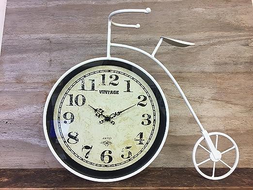 Grande Vintage árabe esfera crema reloj de mesa retro de biciclo ...