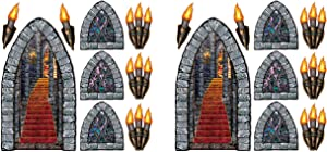 Beistle Stairway, Window & Torch Props 18 Piece, Multicolored