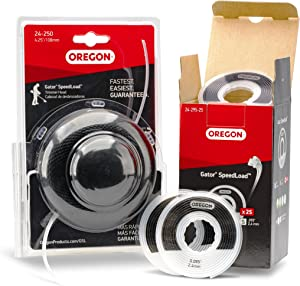 """Oregon Gator SpeedLoad #24-250 4-1/4"""" Replacement String Trimmer Head for Gas Trimmers + 25 .080"""" x 13.8' Trimmer Line Disks. Fits Ryobi, Homelite & More (595420)"""