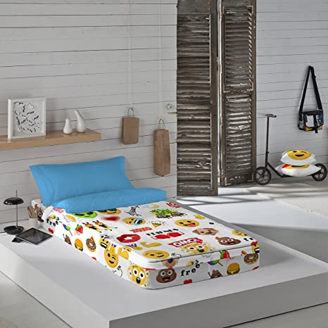 Emoji Party - Saco nórdico para cama de 90 cm (sin relleno)