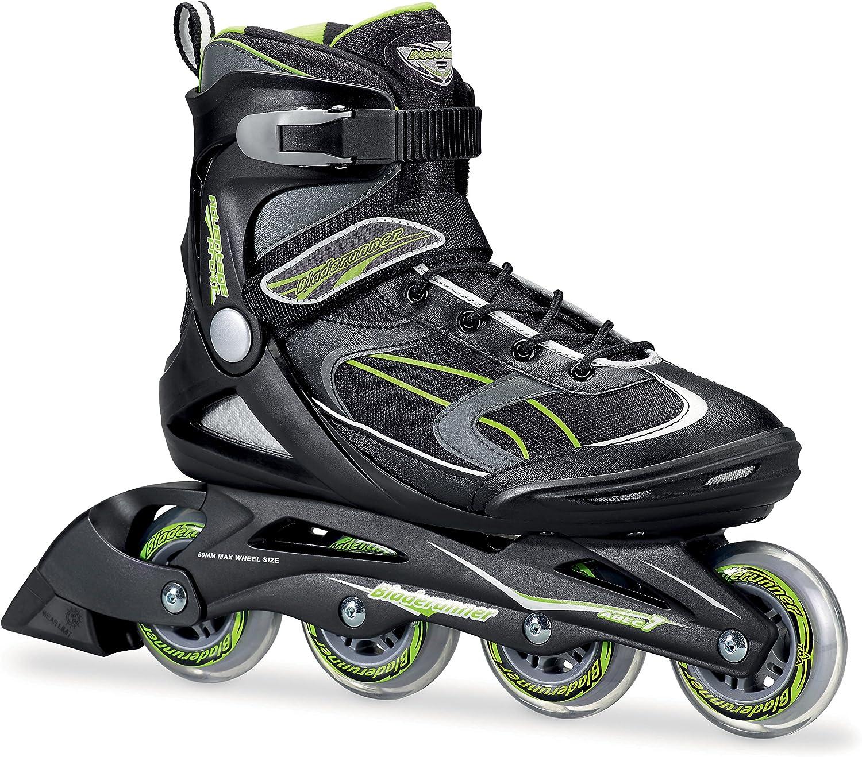 Bladerunner by Rollerblade Advantage Pro XT Men s Adult Fitness Inline Skate, Black and Green, Inline Skates