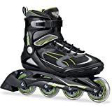 Bladerunner by Rollerblade Advantage Pro XT Men's Adult Fitness Inline Skate, Black and Green, Inline Skates
