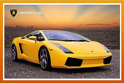 Wall Art Impressions Laminated Poster 24 X36 Sports Cars Lamborghini Gallardo Muscle Car Art Print