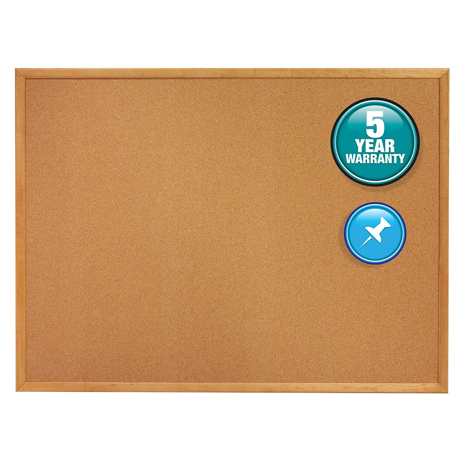 Uncategorized Cork Board No Frame amazon com quartet oak frame natural cork bulletin board 48in x 96in office products