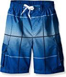 Kanu Surf Boys' Vector Plaid Swim Trunk