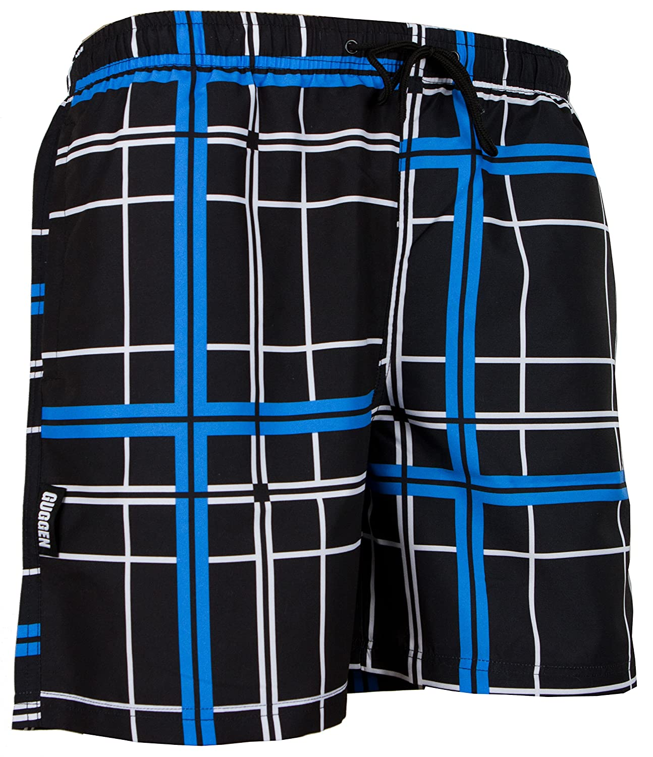 GUGGEN Men's swimming trunks out of High-Tec Material swim shorts bathing drawers bathers slip checked *High Quality Print*