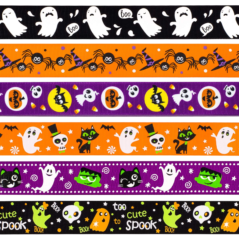 Purple Halloween Skeleton Grosgrain Ribbon 2.5cm  x 1 Metre Sewing//Crafts//Cake