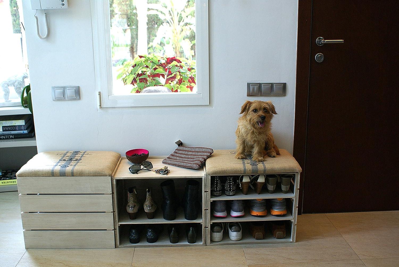 Meuble Chaussures, Coffre Banc de Rangement pour Chaussures, avec  É TAG È 63112f54d64c