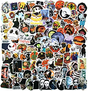 150PCS Halloween Stickers, Funny Waterproof Vinyl Stickers for Teens Decorations Terrorist Stickers for Laptop, Bike Guitar Motorcycle Luggage Skateboard Stickers Thriller Graffiti Decals