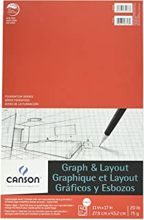 canson foundation series graph and layout paper pad with non reproducible blue grid 20 pound