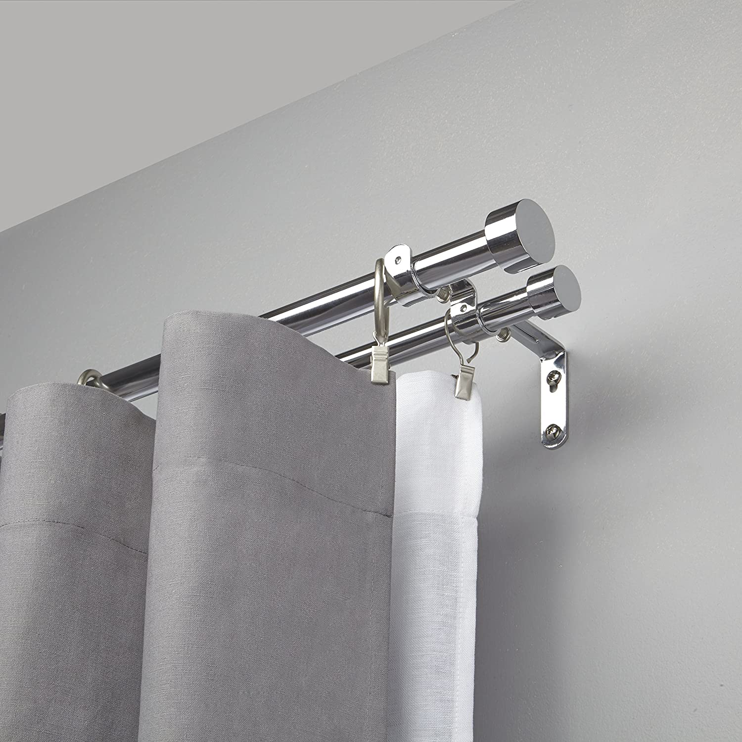 Umbra Cappa Double Curtain Rod, Chrome: Amazon.co.uk: Kitchen & Home