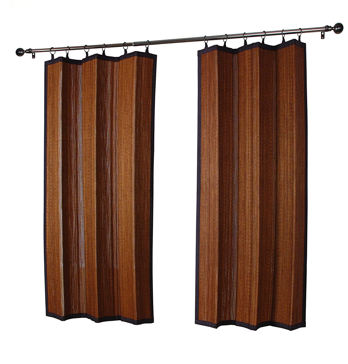 Outdoor bamboo curtains - Amazon Com Versailles In And Outdoor Patented Ring Top Bamboo Panel In Grey Mix Patio Lawn Garden