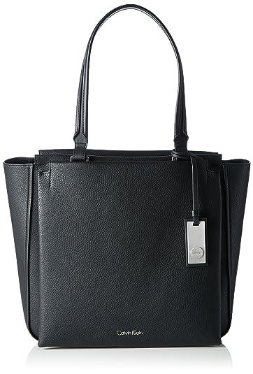 Calvin Klein Damen CARRI3 TOTE Tote Schwarz (BLACK )