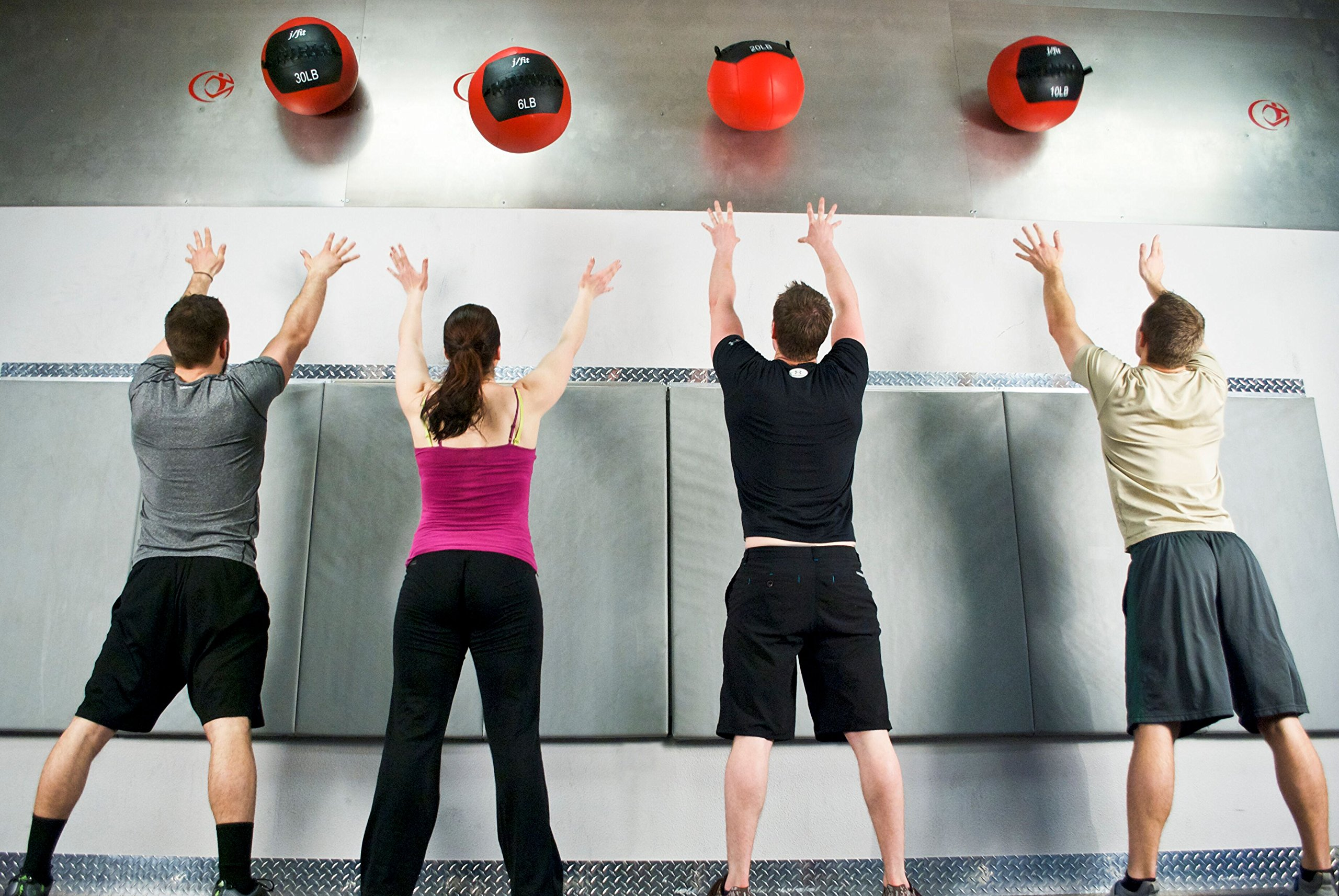 j/fit Medicine Ball, Red/Black, 18-Pound