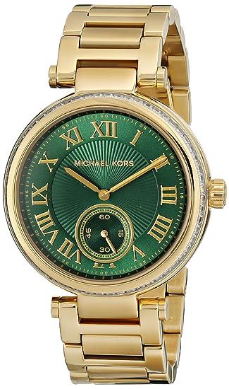 Amazon.com: Michael Kors Womens MK6065 - Skylar Gold/Green: Michael Kors: Watches