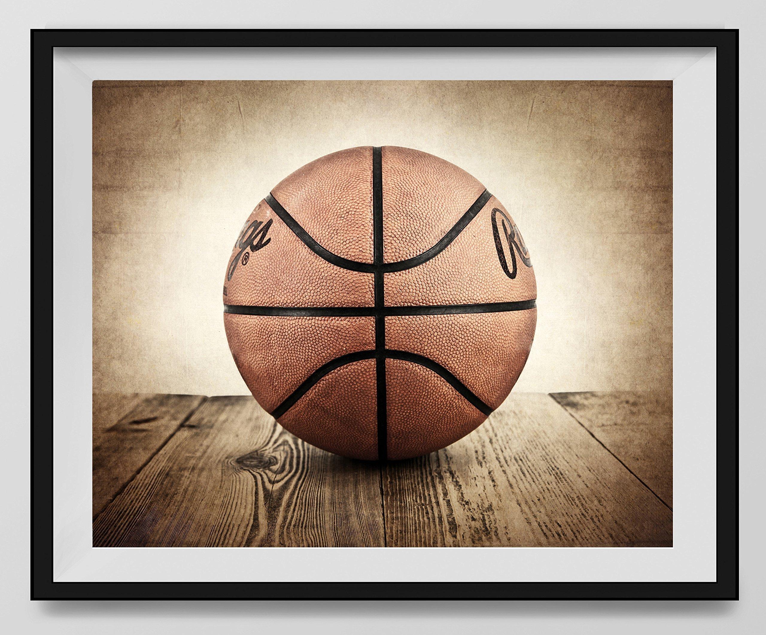 Vintage Basketball on Vintage Background Fine Art Photography Print, Basketball artwork, Nursery decor, Kids Room Sports Wall Art, Basketball photo
