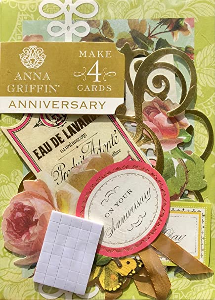 Anna Griffin Anniversary Card Making Kit | Makes 4 Cards | Garden SB735