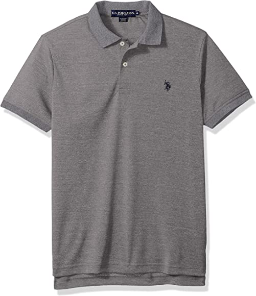 U.S. Polo Assn. Hombres Classic Fit Solid Short Sleeve Poly Polo ...