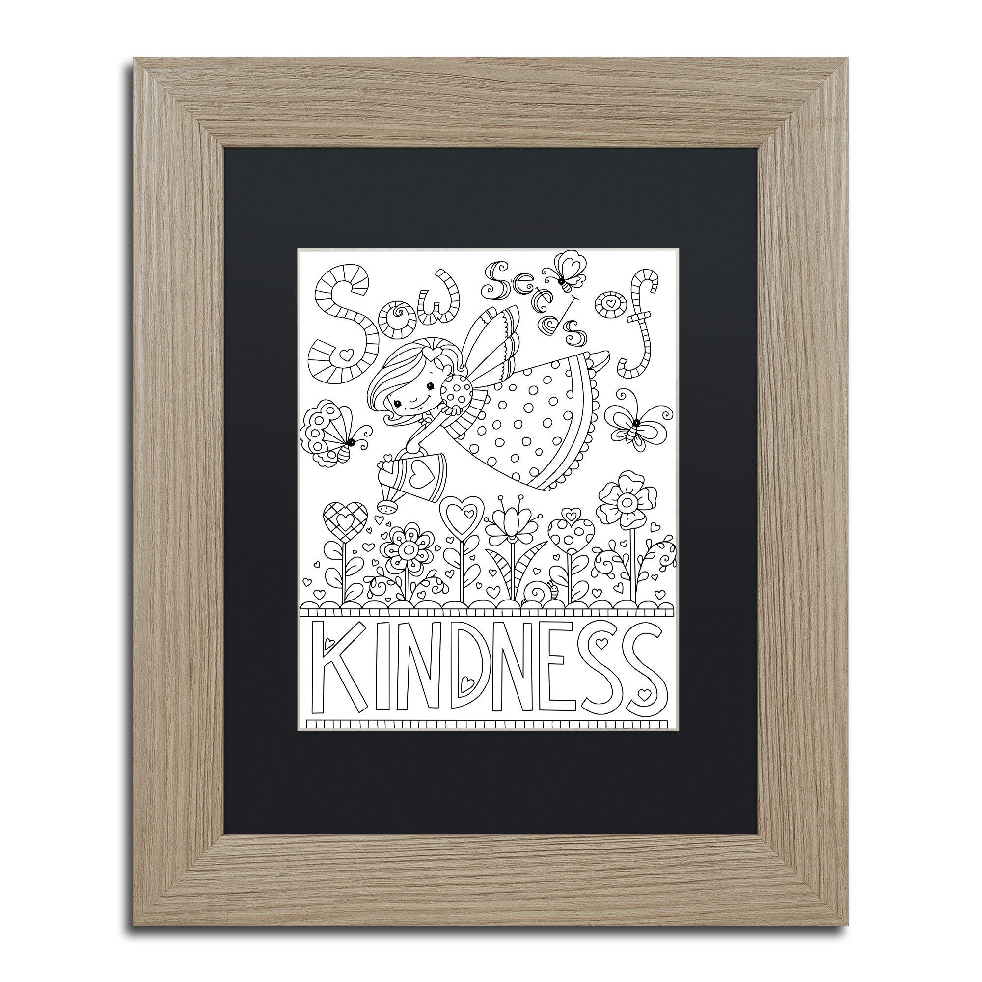Sow Seeds by Jennifer Nilsson, Black Matte, Birch Frame 11x14-Inch by Trademark Fine Art