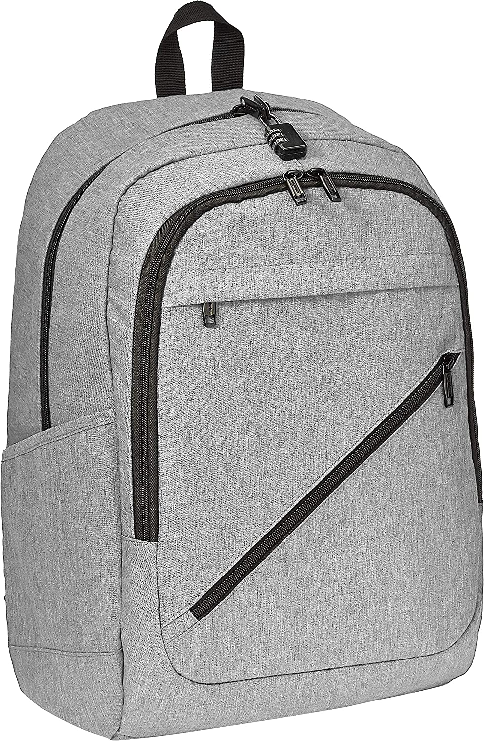 AmazonBasics Anti-Theft Water Resistant Backpack for Laptops up to 17-Inches - Grey