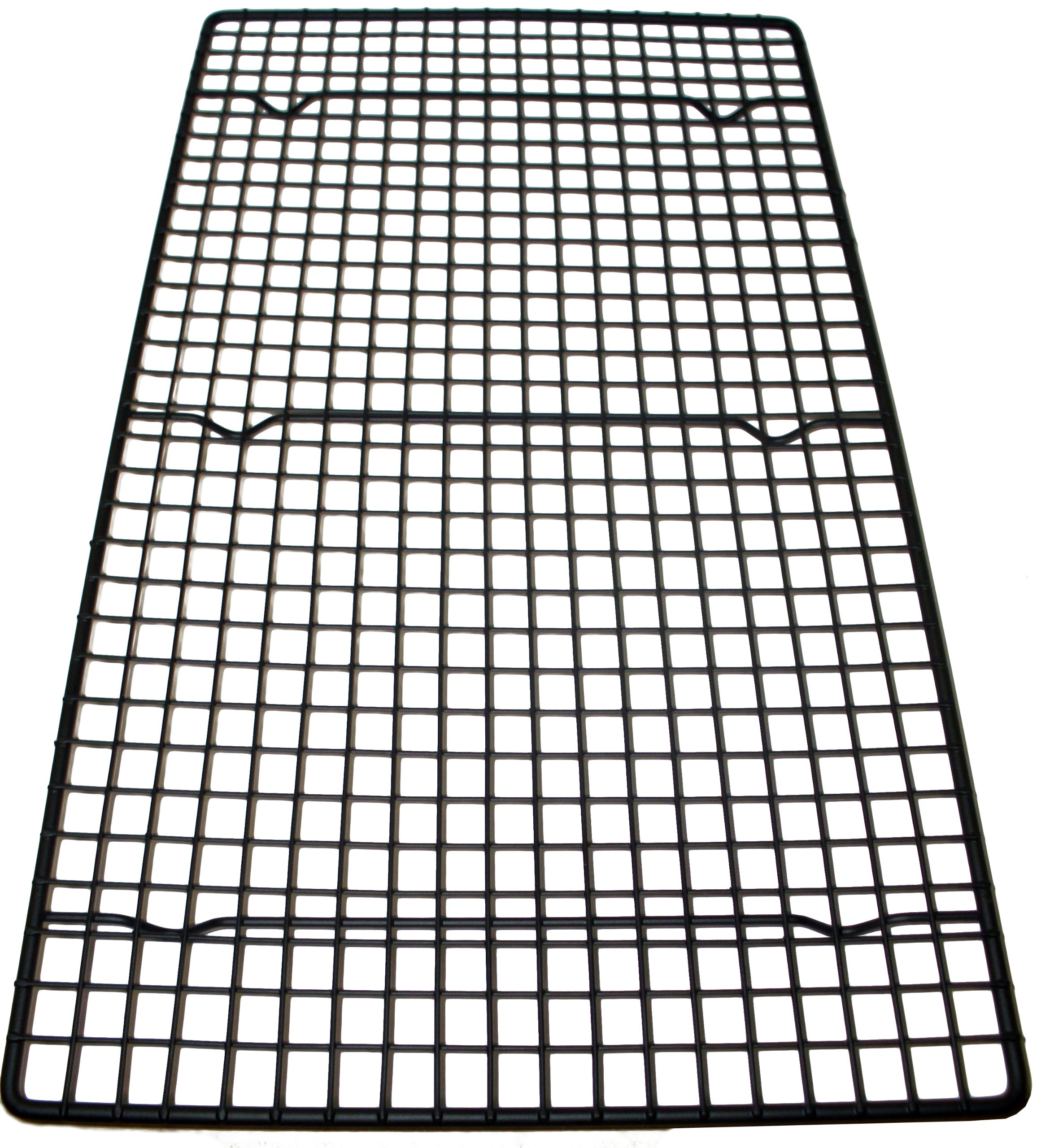 Southern Homewares Oversized Wire Baking Cooling Non-Stick Rack, 18'' x 10'', Black Cookie Pan