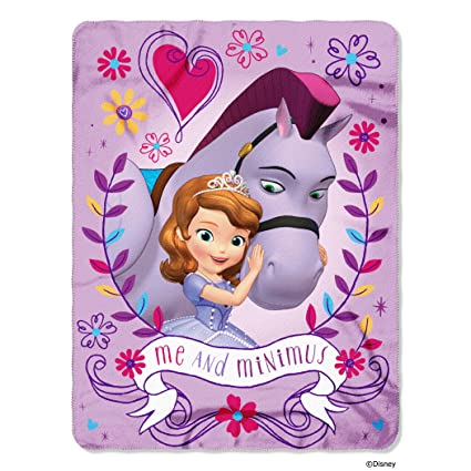 Northwest Sofia The First Me And Minimum Printed Fleece Throw Custom Sofia The First Throw Blanket