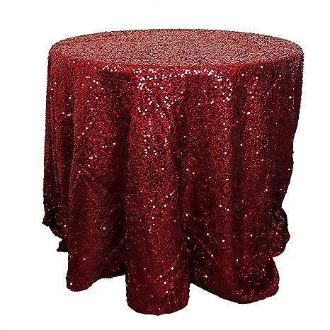Extra Large Round Table Cloth.Amazon Com Christmas Concepts Extra Large Red Sequin Round Table