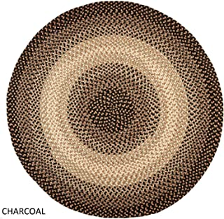 product image for Rhody Rug Ellsworth Indoor/Outdoor Reversible Braided Rug by Charcoal/Ivory