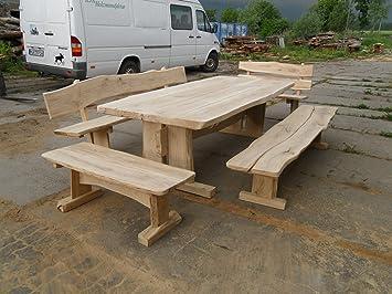 Amazon.de: KJR Holzmanufaktur Rustikale Gartenmöbel, Sitzgruppe