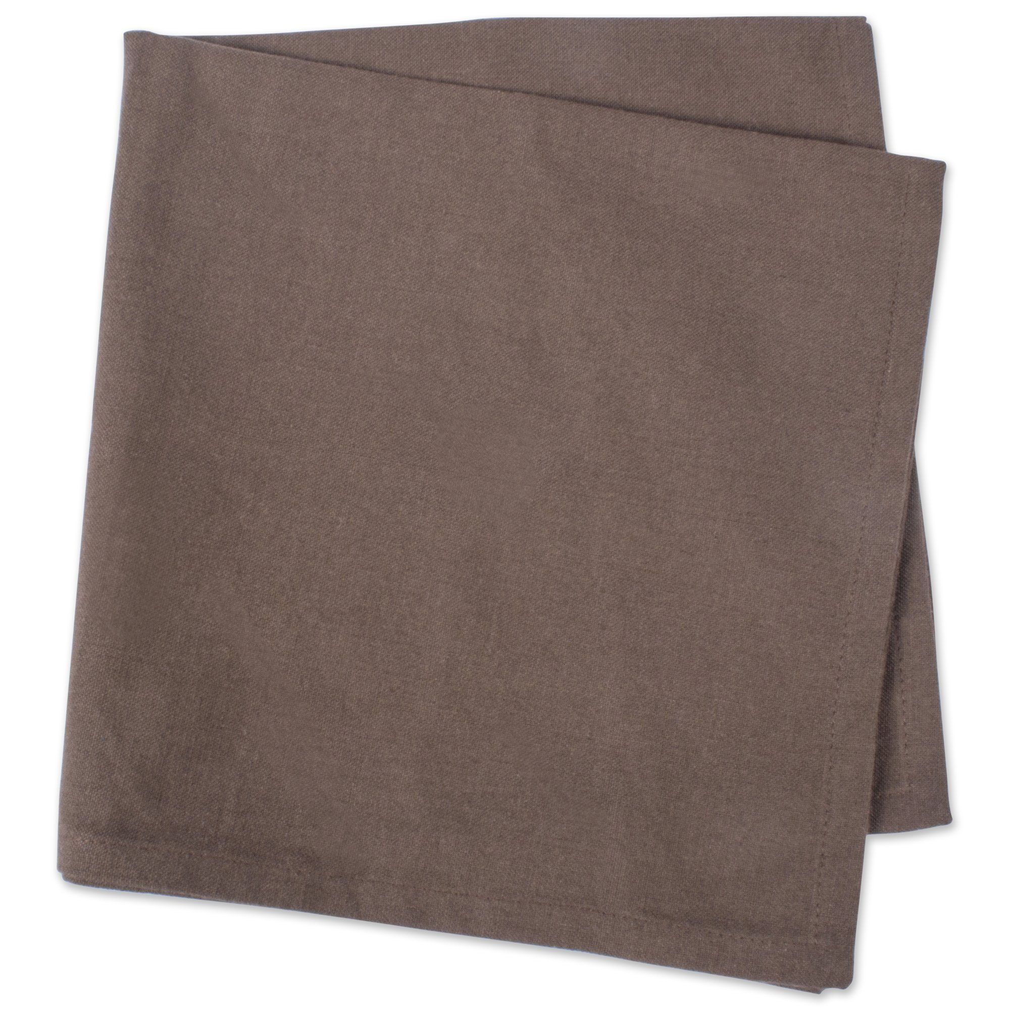 DII 100% Cotton Cloth Napkins, Oversized 20x20'' Dinner Napkins, For Basic Everyday Use, Banquets, Weddings, Events, or Family Gatherings - Set of 6, Dark Brown by DII (Image #4)