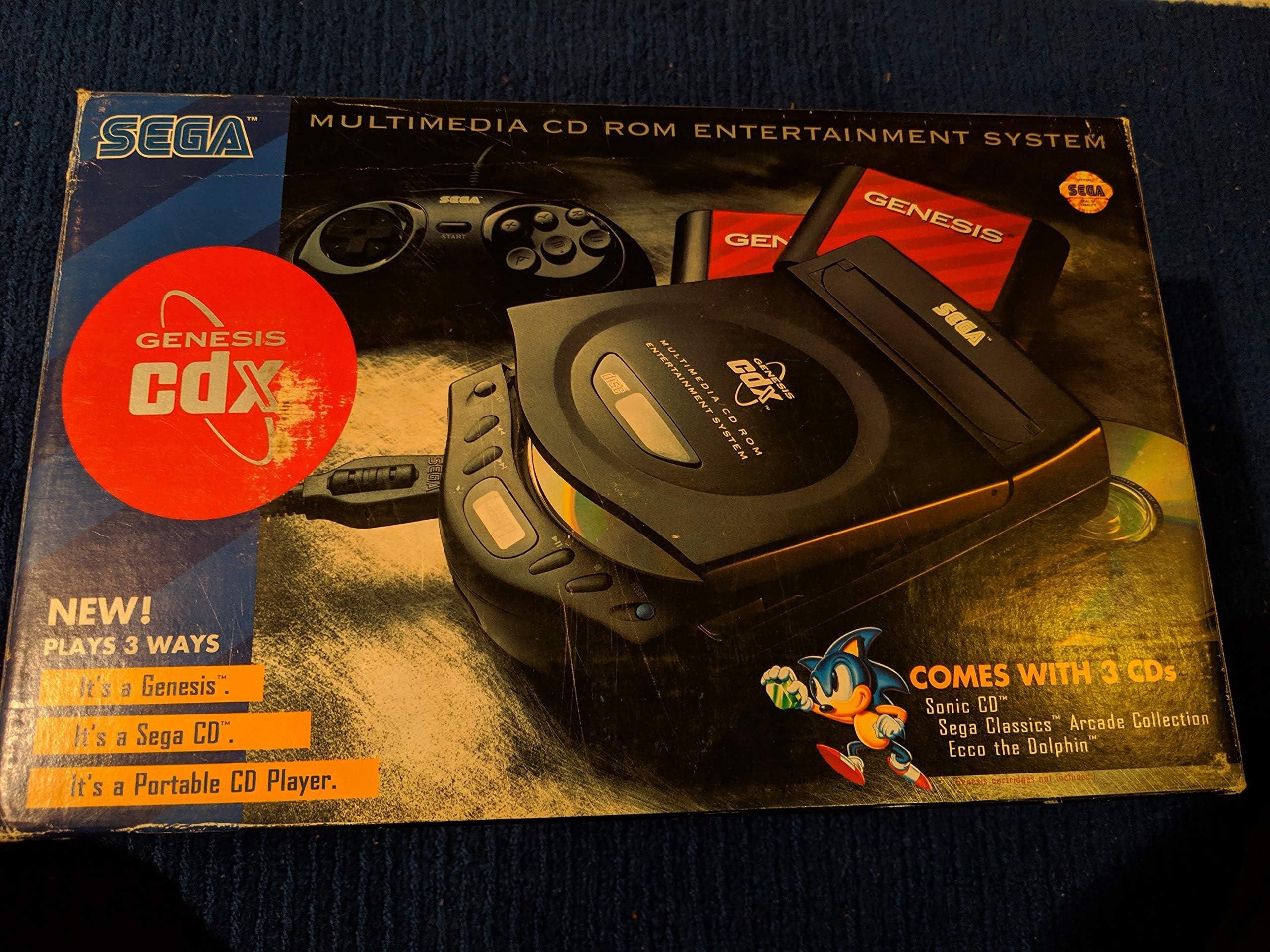 Amazon com: Sega Genesis CDX Multimedia CD-ROM Entertainment
