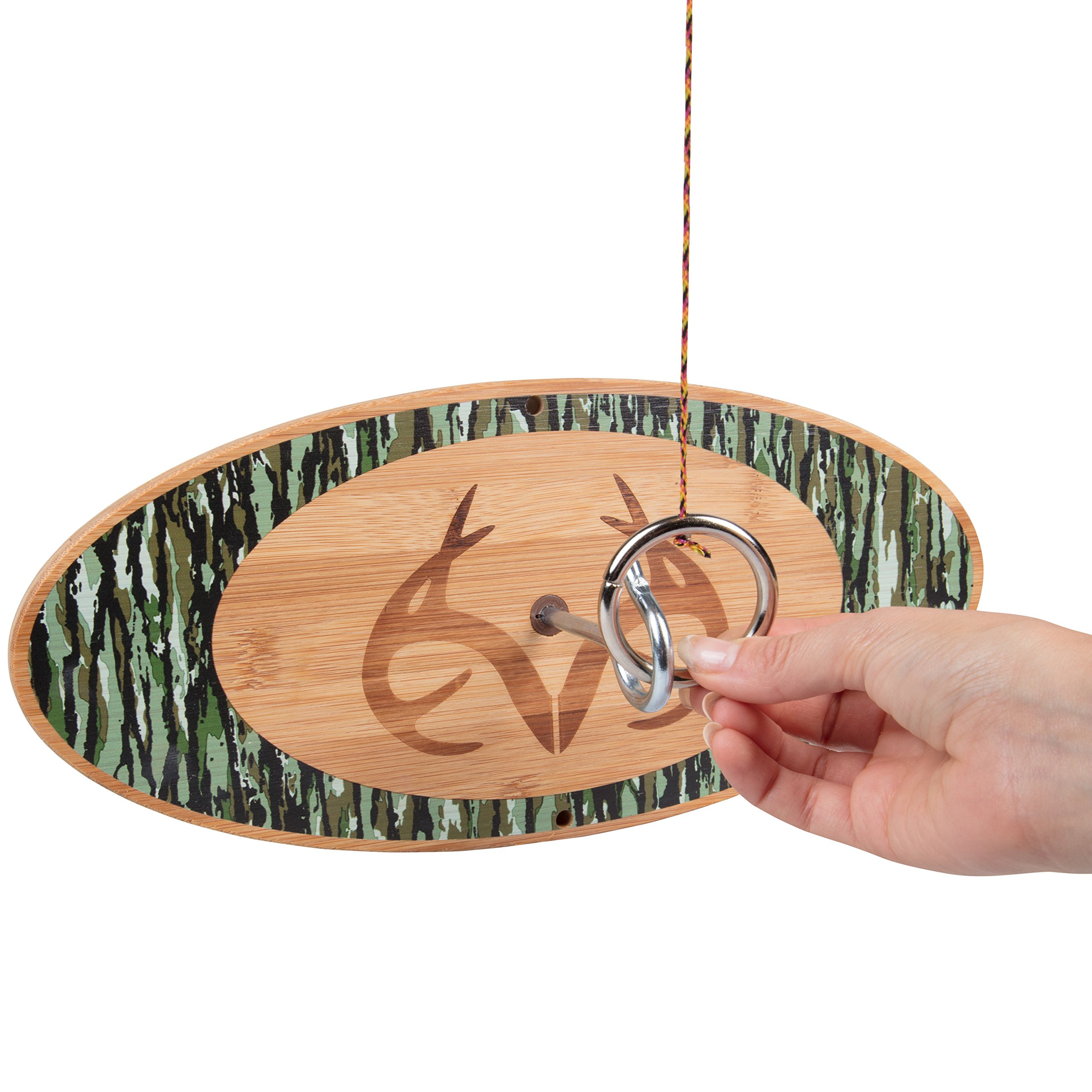 Hook & Ring Game - Indoor/Outdoor Party Game That Puts Your Skills to The Test - Real Tree Original by Tiki Toss