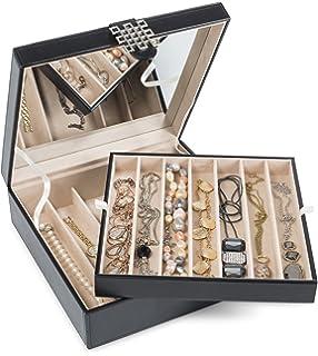 Amazoncom Vlando Jewelry Box Faux Leather Medium Jewelry