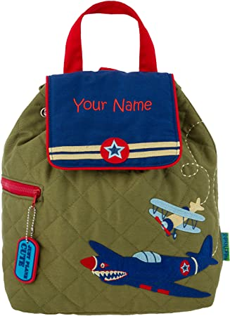 25005e450f48 Personalized Stephen Joseph Military Airplane Quilted Backpack with  Embroidered Name